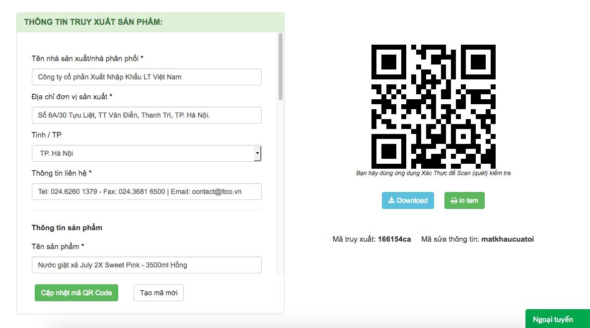 Tạo mã qr code cho sản phẩm nhanh, dễ dàng in ấn chỉ bằng một cú click
