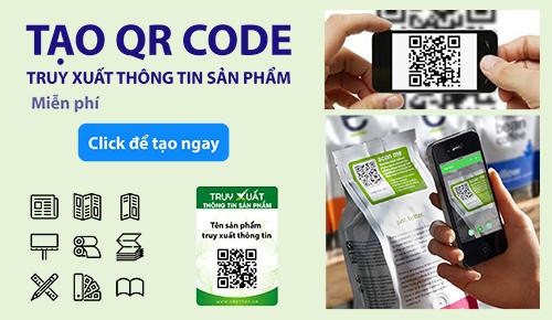 Tạo QR Code truy xuất thông tin sản phẩm